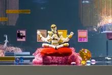 Ajay Kurian, detail of Comfort Zone #2 (Enlightenment), 2014 Wood, Plexiglas, brass beads, resin, custom M&Ms, digital c-prints, reindeer moss, snail shell, paint,copper wire, magic sculpt, seashells, dragon balls, marbles, LED light fixtures. Courtesy the artist and 47 Canal, New York.