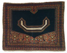 Saddle Cover, late 19th century; Persian; wool and cotton; 66 x 34 inches; Saint Louis Art Museum, Gift of James F. Ballard  70:1929