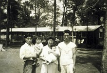 COURTESY DR. LINDA LINDSEY - The Shimamoto family in an Arkansas internment camp.