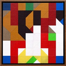 TOM HACKNEY - Chess Painting No. 62  (Grimme, Luuring, Ree & Krabbe vs. Duchamp, correspondence game, 1961), 2016