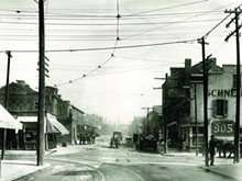 COURTESY OF THE MISSOURI HISTORY MUSEUM - Intersection of Biddle and Thirteenth streets, looking north.