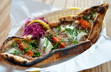 TOM HELLAUER - Pide from Balkan Treat Box.