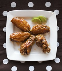 JENNIFER SILVERBERG - Thai Chile-Lime wings at O! Wing Plus.