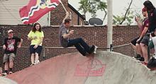 FACEBOOK/SCREEN SHOT - Tony Hawk skating Peter Mathews Memorial Skatepark.