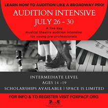 Audition Intensive: A Musical Theatre Audition Workshop - Uploaded by Evvnt Promotion