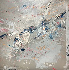 Oliver Lee Jackson, American, born 1935; Alchemy, 1977; oil and enamel on canvas; 113 1/2 x 111 inches; Collection of Donald M. Suggs  2021.80; © Oliver Lee Jackson - Uploaded by cameron.wulfert