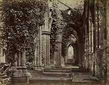 Francis Bedford, English, 1816–1894; Tintern Abbey, South Aisle, 1858; albumen print from glass negative; image: 7 1/2 x 9 1/2 inches, mount: 10 5/8 x 10 5/8 inches; Saint Louis Art Museum, Gift of David R. Hanlon  177:2019 - Uploaded by cameron.wulfert