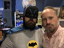 COURTESY APOTHEOSIS COMICS & LOUNGE - Batman and Apotheosis owner Martin Casas