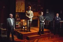 ERIC WOOLSEY - Clarence Darrow (John Flack), Loeb (Pete Winfrey), Leopold (Jack Zanger) and Robert Crowe (Eric Dean White) in Never the Sinner.