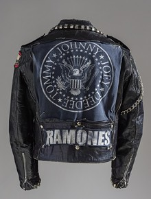 """Punk Jacket"", United States, 1978-83; Los Angeles County Museum of Art, Costume Council Fund. Photo © Museum Associates/LACMA."