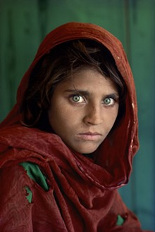 Steve McCurry, Sharbat Gula, Afghan Girl. Peshawar, Pakistan, 1984, EPSON UltraChrome print, 60 x 40 inches. Image courtesy of and © the Artist.