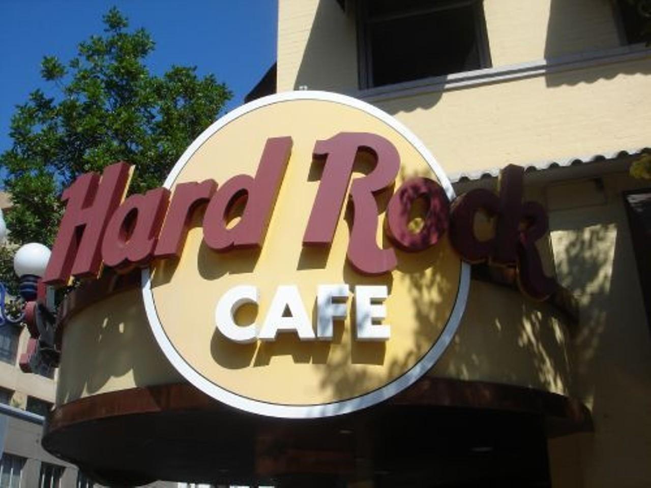 St Louis Hard Rock Cafe Menu