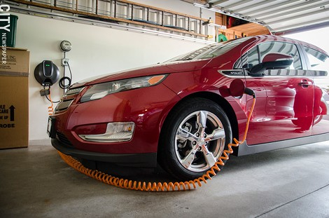 A Chevy Volt. - PHOTO BY MARK CHAMBERLIN