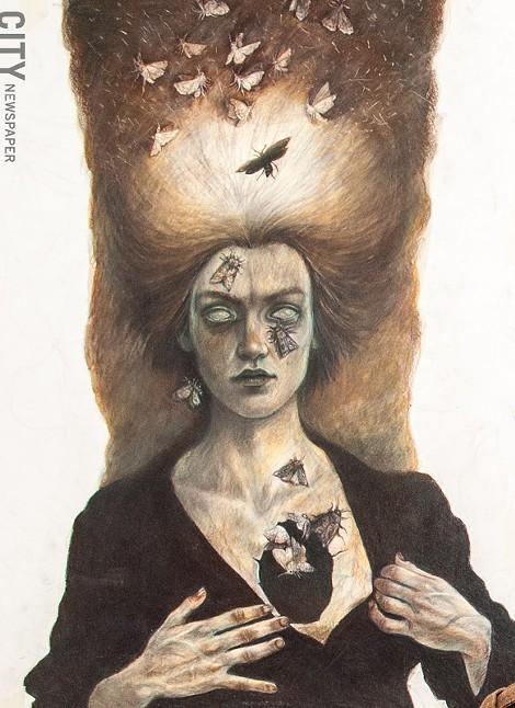 A colored-pencil illustration by Rork Maiellano.