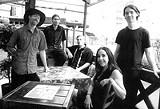 A different kind of jam band: Sim Redmond, Asa Redmond, Dan Merwin, Uniit Carruyo, and Jordan Aceto.