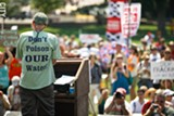 A protestor from the 2012 anti-fracking rally in Washington, D.C. - FILE PHOTO