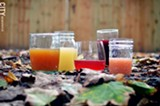 A selection of juices from Red Jacket Orchards. - PHOTO BY MATT DETURCK