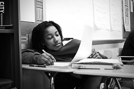 A student in a creative writing class at East High School. - FILE PHOTO
