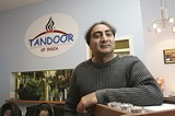 GARY VENTURA - A very friendly greeting: Makhan Singh, one of the owners of Tandoor - of India.