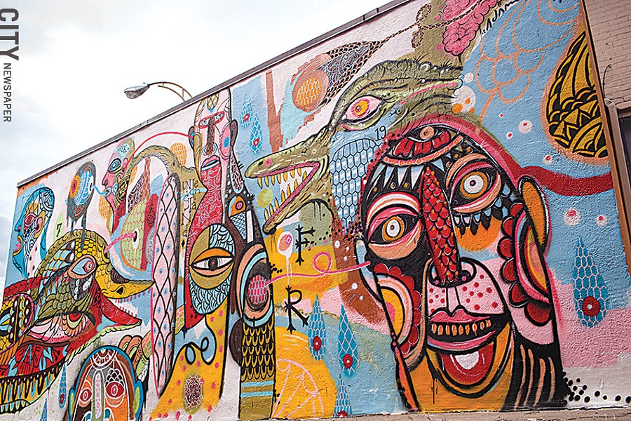 Adam Francey's 2013 Wall-Therapy mural. - FILE PHOTO