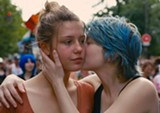 "PHOTO PROVIDED - Adèle Exarchopoulos and Léa Seydoux in ""Blue is the Warmest Color."""