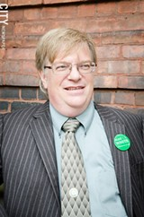 PHOTO BY MARK CHAMBERLIN - Alex White is the Green Party's candidate for mayor of Rochester.