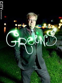 Alex White, the Green Party's candidate for Rochester mayor. - PHOTO ILLUSTRATION BY MATT DETURCK