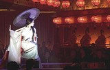 """COLUMBIA PICTURES - All this in platform shoes, too: Ziyi - Zhang in """"Memoirs of a Geisha."""""""