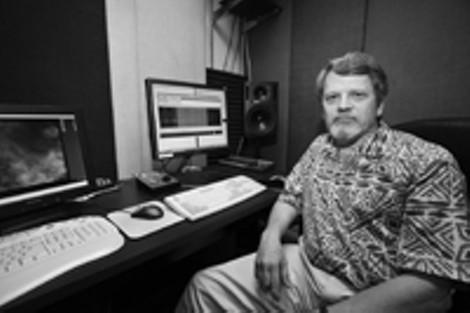 Allan Schindler at Eastman's Computer Music Center. - PHOTO BY FRANK DE BLASE