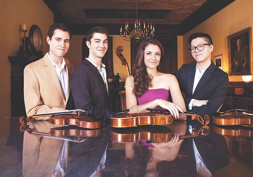 Also performing as part of Eastmans Ranlet series is the Dover String Quartet. The group will make an appearance on October 5 at Kilbourn Hall. - PHOTO PROVIDED