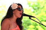 Amanda Ashley performed at the Roc City Rib Fest Sunday at Ontario Beach Park. PHOTO BY FRANK DE BLASE