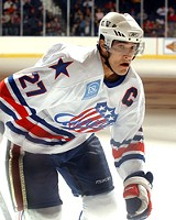 """20 TOE PHOTO - Amerks player Brandon Smith says, """"You have to prepare a little more for Binghamton."""""""