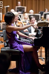 PHOTO COURTESY GAN YUAN - Among the season's guest artists: pianist Yuja Wang performing Bartok's First Piano Concerto.