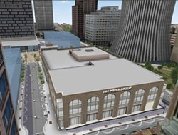 An artist's rendering of the future D and C building. - PROVIDED IMAGE
