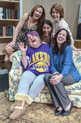 "PHOTO BY STEVEN LEVINSON - Appearing in ""Naked in Encino"" is (clockwise from upper left) Mary Jayne Waddell, Jillian Severin, Alexa Scott-Flaherty,  Jodi Beckwith, and Pam Marsocci."