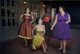 """PHOTO BY MIGUEL GARCIA VICENTE - Ariana Rivera, Amanda Nelson, Brianna Smith, and Yvana Melendez appear in the RAPA and Rochester Latino Theatre Company production of """"West Side Story."""""""