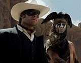 "PHOTO COURTESY WALT DISNEY PICTURES - Armie Hammer and Johnny Depp in ""The Lone Ranger."""