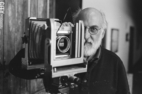As part of his process, Richard Margolis uses a view camera loaded with 4-inch by 5-inch sheets of film. - [Photographed with a Canon TL camera and Kodak T-Max 400 speed film] - PHOTO BY MIKE HANLON