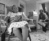 TOUCHSTONE PICTURES - Babbling ghetto blather: Marlon Wayans (right) in The Ladykillers.