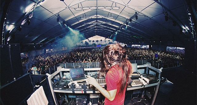 Bassnectar at Coachella in 2010. PHOTOS BY CAESAR SEBASTIAN