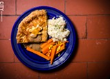 PHOTO BY MARK CHAMBERLIN - Beef and Stout Pot Pie with whiskey ginger vegetables and colcannan from McColley's.