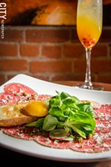 Beef tenderloin carpaccio from Nikko. - PHOTO BY MARK CHAMBERLIN