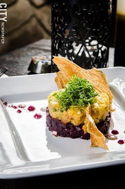 Beet Tartare at Vive. - PHOTO BY MARK CHAMBERLIN