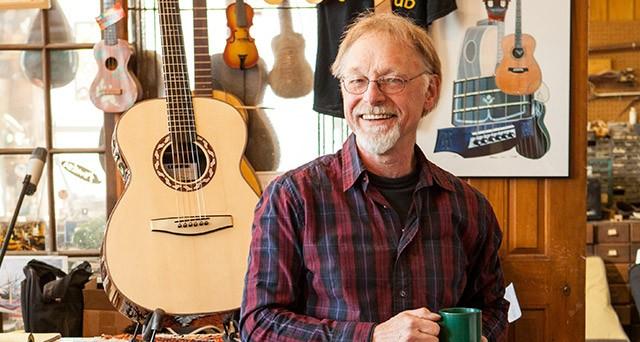 Bernie Lehmann in his workshop.
