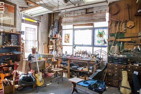 Bernie Lehmann's workshop - PHOTO BY JOHN SCHLIA
