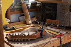 Bernie Lehmann's workshop - PHOTO BY JOHN SCHLIA