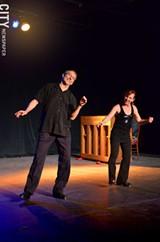 Bill Evans and Cheryl Johnson in Rhythm Tap at RAPA as part of the Rochester Fringe Festival. - PHOTO BY MATT DETURCK