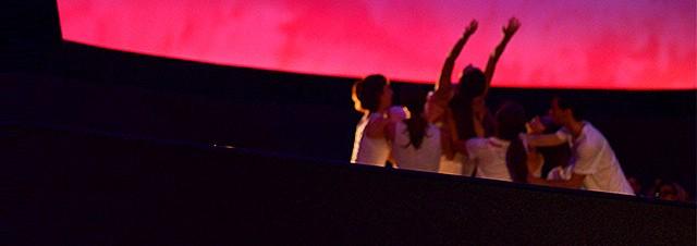 "BIODANCE performing ""Anomaly"" at the RMSC Planetarium."