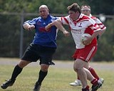JEROME DAVIS - Boys at play: local Gaelic football players in action.
