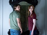 "PHOTO COURTESY INTREPID PICTURES - Brenton Thwaites and Karen Gillan in ""Oculus."""